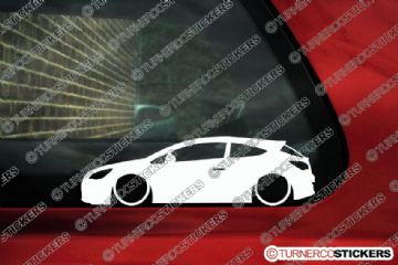 2x LOW Vauxhall / Opel Astra J GTC 3-Door (mk6) silhouette stickers, Decals